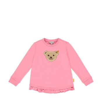 Steiff pamut pulóver fodrokkal és sípoló macival az elején - Sweet Cherry kollekió - rózsaszín - Bunny and Teddy