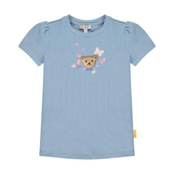 Steiff rövid ujjú pamut póló pillangókkal az elején - Sweet Cherry kollekió - kék - Bunny and Teddy