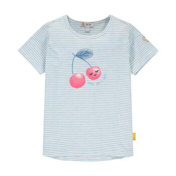 Steiff csíkos pamut póló nagy cseresznyével az elején - Sweet Cherry kollekió