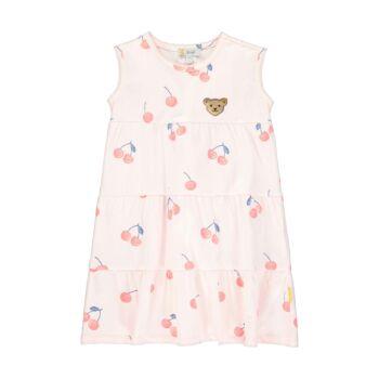 Steiff fodros cseresznye mintás ruha - Sweet Cherry kollekió - világos rózsaszín - Bunny and Teddy