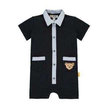 Steiff elegáns pamut rugdalózó kisfiúknak Special Day- baby boys kollekció - sötétkék/fekete - Bunny and Teddy
