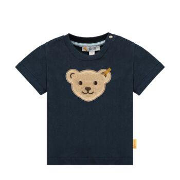 Steiff rövid ujjú póló nagy macifejjel az elején Special Day- baby boys kollekció - sötétkék/fekete - Bunny and Teddy