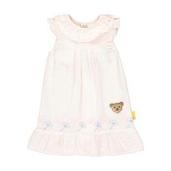 Steiff csíkos hímzett ruha - Special Day - baby girls kollekió - világos rózsaszín - Bunny and Teddy