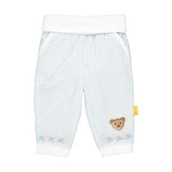Steiff csíkos hímzett nadrág - Special Day - baby girls kollekió - világoskék - Bunny and Teddy