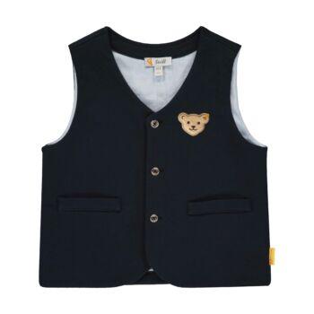 Steiff elegáns mellény kisfiúknak Special day - mini boys kollekció - sötétkék/fekete - Bunny and Teddy