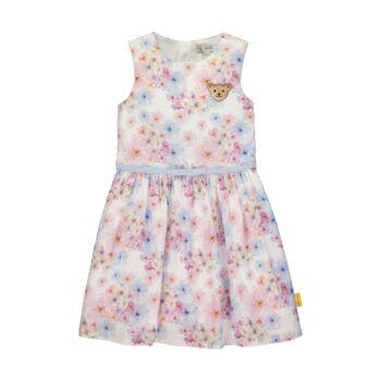 Steiff ujjatlan pamut ruha virágokkal és övvel - Special day - mini girls kollekió