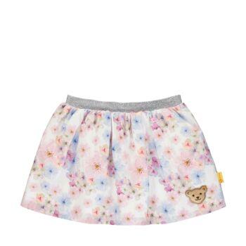 Steiff virágos pamut szoknya - Special day - mini girls kollekió - fehér - Bunny and Teddy
