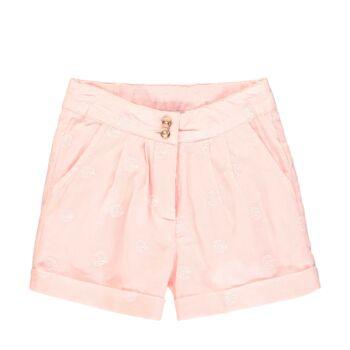 Steiff áttört mintás pamut rövidnadrág - Special day - mini girls kollekió - világos rózsaszín - Bunny and Teddy