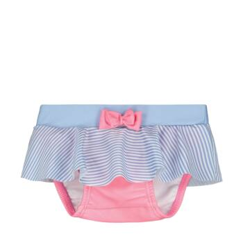 Steiff csíkos úszópelenka kislányoknak UV szűrős anyagból 50-es fényvédő faktorral fürdőruha kollekció
