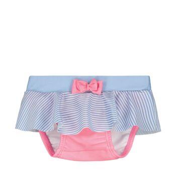 Steiff csíkos úszópelenka kislányoknak UV szűrős anyagból 50-es fényvédő faktorral fürdőruha kollekció - kék - Bunny and Teddy