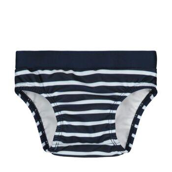 Steiff csíkos úszópelenka kisfiúknak UV szűrős anyagból 50-es fényvédő faktorral fürdőruha kollekció