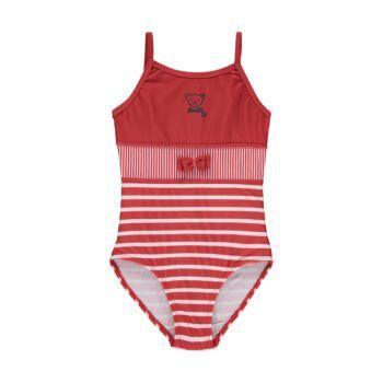 Steiff csíkos fürdőruha kislányoknak UV szűrős anyagból 50-es fényvédő faktorral fürdőruha kollekció