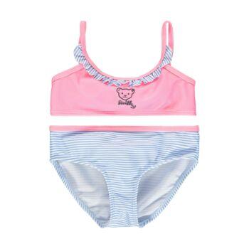 Steiff csíkos bikini kislányoknak UV szűrős anyagból 50-es fényvédő faktorral fürdőruha kollekció - rózsaszín - Bunny and Teddy