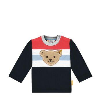 Steiff kisfiú pamut pulóver melegítő felső- Baby Boys - Bear to School kollekcó sötétkék/fekete    Bunny and Teddy