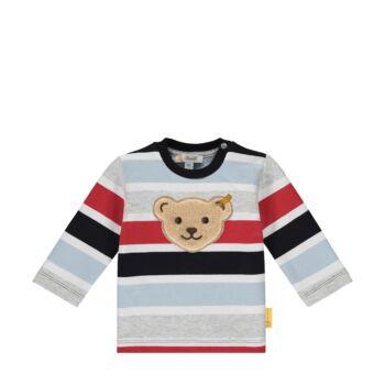 Steiff színes kisfiú pamut pulóver melegítő felső- Baby Boys - Bear to School kollekcó sötétkék/fekete  | Bunny and Teddy