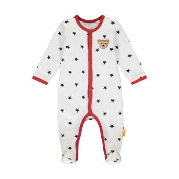 Steiff Csillagos, lábfejes rugdalózó, pizsama kisfiúknak- Baby Boys - Bear to School kollekcó