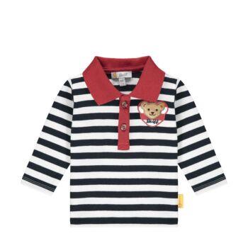 Steiff hosszú ujjú galléros póló kisfiúknak- Baby Boys - Bear to School kollekció