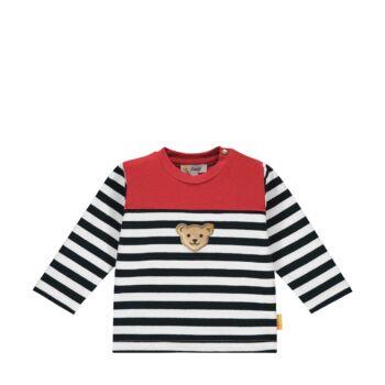 Steiff csíkos kisfiú pamut pulóver melegítő felső- Baby Boys - Bear to School kollekcó sötétkék/fekete  | Bunny and Teddy