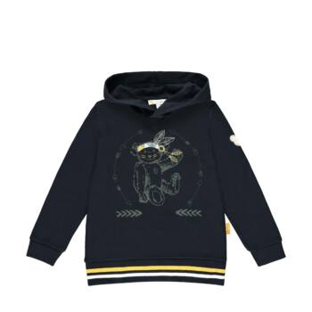 Steiff kapucnis pamut melegítő felső, pulóver- Mini Boys - Indi Bear kollekcó