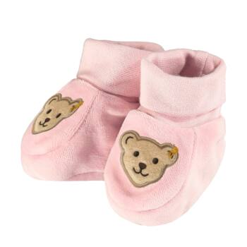 Steiff babacipő, tutyi biopamutból- Baby Organic - Raindrops kollekcó világos rózsaszín  | Bunny and Teddy