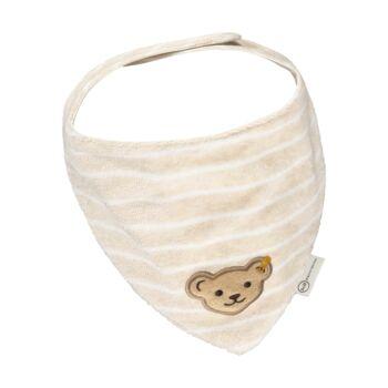 Steiff plüss biopamut háromszög alakú kendő- Baby Unisex Organic - Bear Hugs kollekcó bézs  | Bunny and Teddy