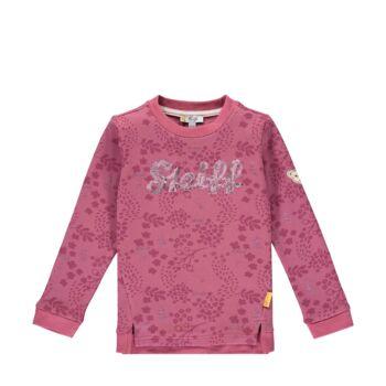 Steiff levél mintás pamut pulóver kislányoknak- Mini Girls - Fairytale kollekcó világos rózsaszín    Bunny and Teddy