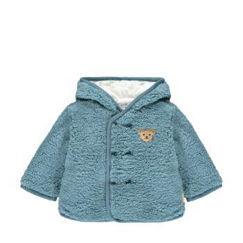 Steiff meleg bélelt kabát teddy plüss anyagból- Baby Boys - Forest Friends kollekció
