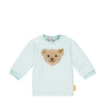 Steiff puha pamut pulóver- Baby Boys - Forest Friends kollekcó kék  | Bunny and Teddy