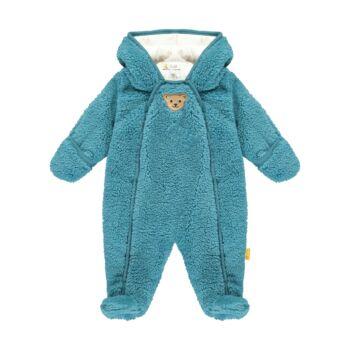 Steiff meleg overál puha teddy plüss anyagból- Baby Boys - Forest Friends kollekcó kék  | Bunny and Teddy