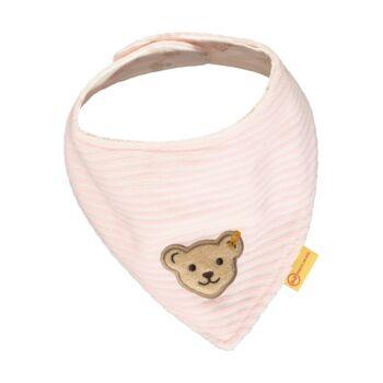 Steiff háromszög alakú kendő puha plüss anyagból- Baby Girls - Fairytale kollekcó világos rózsaszín    Bunny and Teddy