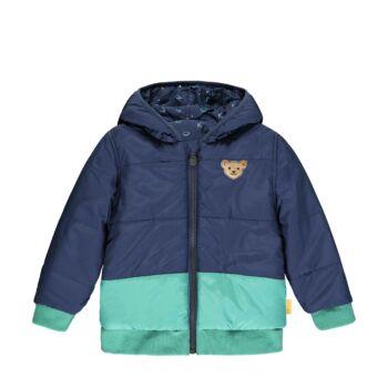 Steiff Mindkét oldalán hordható kabát kapucnival és BIONIC-FINISH®ECO impregnálással- Mini Boys - High 5! kollekcó