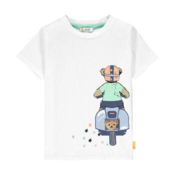 Steiff rövid ujjú póló vespás macival- Mini Boys - High 5! kollekcó