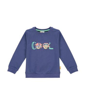 Steiff pamut pulóver, melegítő felső cool felirattal- Mini Boys - High 5! kollekcó kék  | Bunny and Teddy