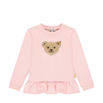 Steiff fodros pamut pulóver sípoló hangot kiadó macival az elején- Mini Girls - Bugs Life kollekcó világos rózsaszín    Bunny and Teddy