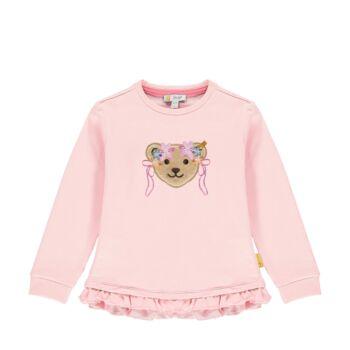 Steiff fodros pamut pulóver- Mini Girls - Bugs Life kollekcó világos rózsaszín    Bunny and Teddy