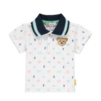 Steiff rövid ujjú galléros póló vespás mintával- Baby Boys - High 5! kollekcó