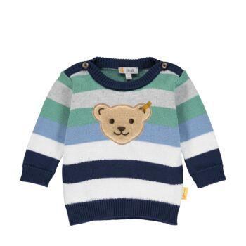 Steiff csíkos kötött pamut pulóver - Baby Boys - High 5! kollekcó