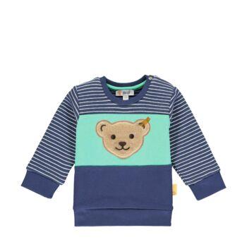 Steiff csíkos pamut pulóver- Baby Boys - High 5! kollekcó kék  | Bunny and Teddy
