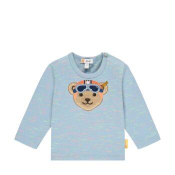 Steiff hosszú ujjú póló nagy bukósisakos Steiff macival az elején- Baby Boys - High 5! kollekcó világos kék    Bunny and Teddy