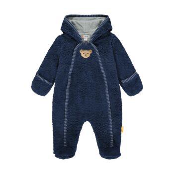 Steiff Fleece overál kapucnival és pamut béléssel- Baby Boys - High 5! kollekcó kék  | Bunny and Teddy