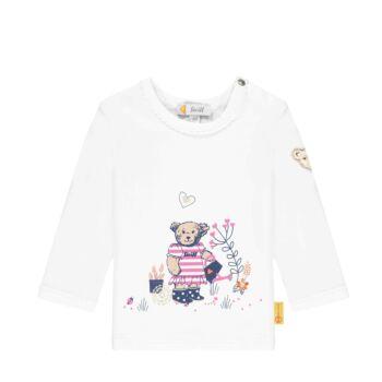 Steiff hosszú ujjú  baba felső kertész macival- Baby Girls - Bugs Life kollekcó fehér    Bunny and Teddy
