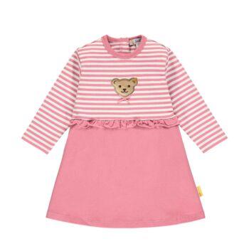 Steiff csíkos fodros pamut ruha- Baby Girls - Bugs Life kollekcó rózsaszín    Bunny and Teddy