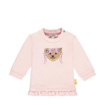 Steiff fodros babapulóver- Baby Girls - Bugs Life kollekcó világos rózsaszín  | Bunny and Teddy
