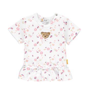 Steiff fodros babapóló katica mintával- Baby Girls - Bugs Life kollekcó fehér  | Bunny and Teddy