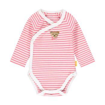 Steiff hosszú ujjú átlapolós csíkos body- Baby Girls - Bugs Life kollekcó rózsaszín    Bunny and Teddy