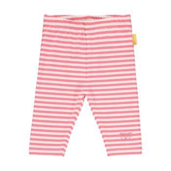 Steiff csíkos pamut leggings- Baby Girls - Bugs Life kollekcó rózsaszín  | Bunny and Teddy