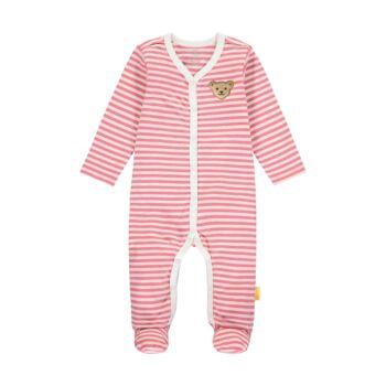Steiff hosszú ujjú lábfejes rugdalózó, pizsama- Baby Girls - Bugs Life kollekcó rózsaszín  | Bunny and Teddy