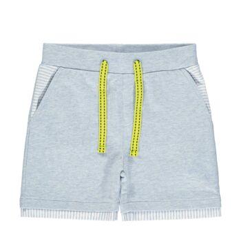 Steiff rövidnadrág puha pamutból- Mini Boys - Hello Summer kollekció fehér  | Bunny and Teddy