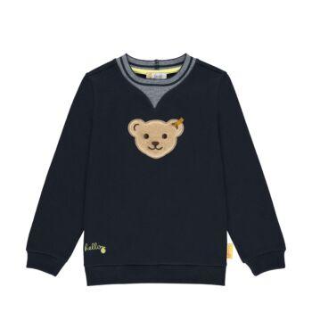 Steiff pamut pulóver sípoló hangot kiadó macival az elején - Mini Boys - Hello Summer kollekció fehér  | Bunny and Teddy