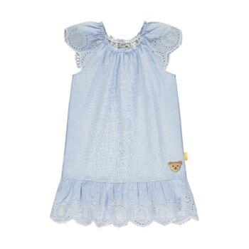 Steiff rövid ujjú ruha áttört mintával- Mini Girls - Hello Summer kollekció fehér    Bunny and Teddy